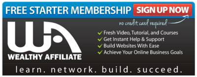 build your affiliate blog with Wealthy Affiliate